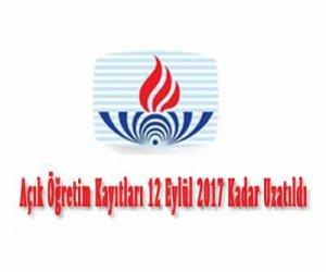 Açık Öğretim Kayıtları 12 Eylül 2017 Kadar Uzatıldı