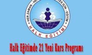 Halk Eğitimde 21 Yeni Kurs Programı