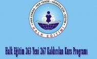 Halk Eğitim 263 Yeni 267 Kaldırılan Kurs Programı