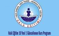 Halk Eğitim 10 Yeni 1 Güncellenen Kurs Programı